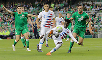 Dublin, Ireland - Saturday June 02, 2018: Tim Weah during an international friendly match between the men's national teams of the United States (USA) and Republic of Ireland (IRE) at Aviva Stadium.