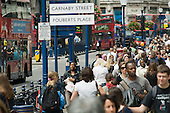 Shoppers and tourists in Regent Street, London.