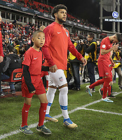 TORONTO, ON - OCTOBER 15: DeAndre Yedlin #2 of the United States walking out during a game between Canada and USMNT at BMO Field on October 15, 2019 in Toronto, Canada.