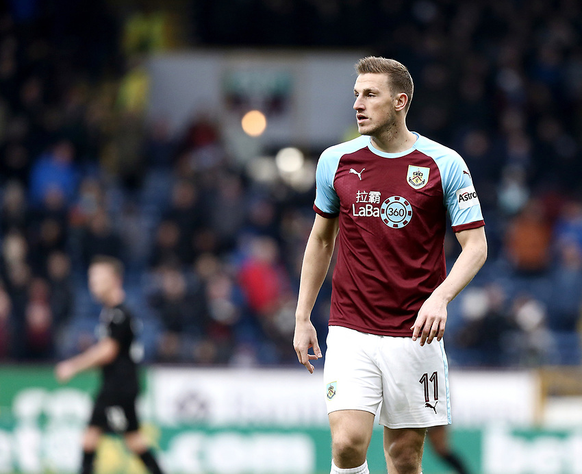 Burnley's Chris Wood<br /> <br /> Photographer Rich Linley/CameraSport<br /> <br /> Emirates FA Cup Third Round - Burnley v Barnsley - Saturday 5th January 2019 - Turf Moor - Burnley<br />  <br /> World Copyright © 2019 CameraSport. All rights reserved. 43 Linden Ave. Countesthorpe. Leicester. England. LE8 5PG - Tel: +44 (0) 116 277 4147 - admin@camerasport.com - www.camerasport.com