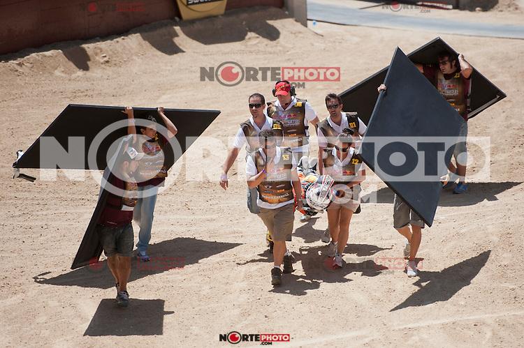 Training Red Bull X-Fighters 2012. Madrid. Rider In the picture Jeremy Rouanet FRA. July 19, 2012. (ALTERPHOTOS/Ricky Blanco) /NortePhoto.com<br />  <br /> **CREDITO*OBLIGATORIO** *No*Venta*A*Terceros*<br /> *No*Sale*So*third* ***No*Se*Permite*Hacer Archivo***No*Sale*So*third*&copy;Imagenes*con derechos*de*autor&copy;todos*reservados*.