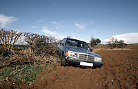 Road traffic accident involving a car that was stolen and used by joyriders. They skidded off the road crossed the ditch and ended up in a field..©shoutpictures.com..john@shoutpictures.com