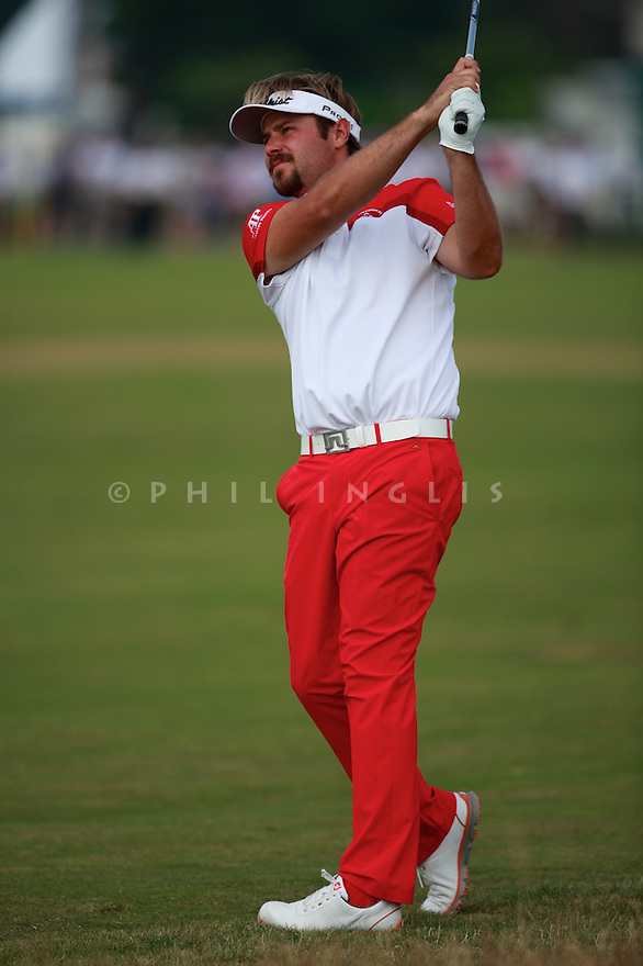 Victor Dubuisson (FRA) in action during the second round of the 143rd Open Championship played at Royal Liverpool Golf Club, Hoylake, Wirral, England. 17 - 20 July 2014 (Picture Credit / Phil Inglis)