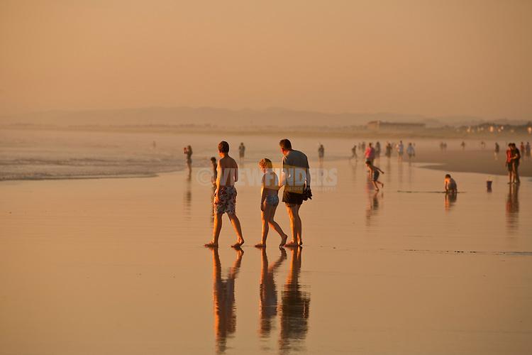 People on the Beach Seaside, Oregon