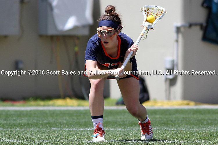 01 May 2016: Syracuse's Riley Donahue. The University of North Carolina Tar Heels played the Syracuse University Orange at Lane Stadium in Blacksburg, Virginia in the 2016 Atlantic Coast Conference Women's Lacrosse Tournament championship match. North Carolina won 15-14 in overtime.