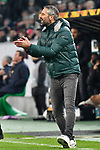 07.11.2019, Borussia-Park - Stadion, Moenchengladbach, GER, EL, Borussia Moenchengladbach vs. AS Roma, UEFA regulations prohibit any use of photographs as image sequences and/or quasi-video<br /> <br /> im Bild Marco Rose (Borussia Moenchengladbach) Gestik / Geste / gestikuliert / <br /> <br /> Foto © nordphoto/Mauelshagen