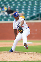 Chattanooga Lookouts relief pitcher Jhan Marinez (25) in action against the Montgomery Biscuits at AT&T Field on July 23, 2014 in Chattanooga, Tennessee.  The Lookouts defeated the Biscuits 6-5. (Brian Westerholt/Four Seam Images)