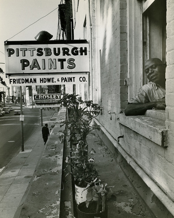 1958 Spring.Redevelopment...Downtown North (R-8)..Friedman Hardware & Paint Co...Neal Clark Jr..NEG#.NRHA# 3373..Sleeve 123, Neg 12.
