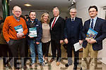 Pictured in Tech Amergin, Waterville on Wednesday for the launch of the Skellig Coast Visitor Experience Development Plan were l-r; Pat Golden(Kells), Rory McCarthy(Cahersiveen), Josephine O'Driscoll(Fáilte Ireland - Team Manager WAW), Dean Panter(Fáilte Ireland Business Enterprise Development), Stephen Dudley(Fáilte Ireland Business Enterprise Development) & Noel Spillane(CEO SKDP).