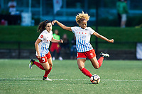 Boston, MA - Friday July 07, 2017: Stephanie McCaffrey and Casey Short during a regular season National Women's Soccer League (NWSL) match between the Boston Breakers and the Chicago Red Stars at Jordan Field.