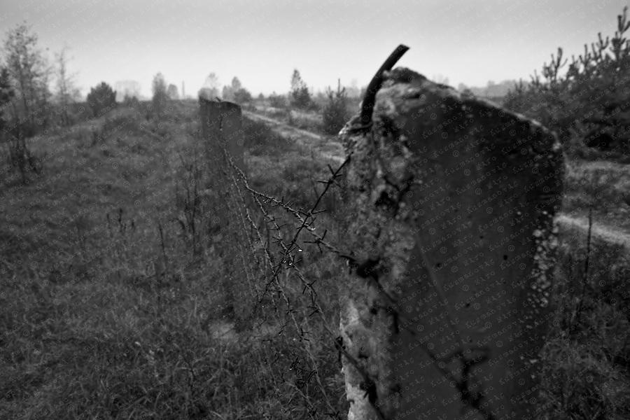 Documenting the echos of Chernobyl Tragedy, The fence to the zone, a long term reminder of the mass destruction caused by the nuclear explosion in Chernobyl, Ukraine on April 25-26, 1986.