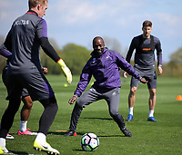 Assistant coach Claude Makelele (C) in action during the Swansea City Training at The Fairwood Training Ground, Swansea, Wales, UK. Tuesday 02 May 2017