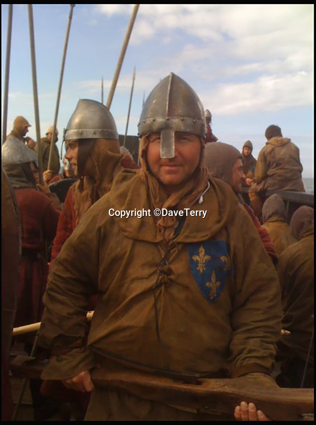 BNPS.co.uk (01202 558833)<br /> Pic: DaveTerry/BNPS<br /> <br /> Dave Terry as a French marine in 'Robin Hood'.<br /> <br /> From marine to movie man...<br /> <br /> As a former Royal Marine, David Terry is used to getting shot at - but these days the only shooting he has to worry about is from film cameras.<br /> <br /> You might not recognise his face but he has worked alongside big Hollywood stars like Russell Crowe, Tom Cruise, Colin Firth and Kevin Costner.<br /> <br /> Since leaving the marines in 2009 after a 22-year career David, 51, has been making his military impact on the film industry.