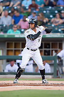 Yoan Moncada (10) of the Charlotte Knights at bat against the Indianapolis Indians at BB&T BallPark on June 16, 2017 in Charlotte, North Carolina.  The Knights defeated the Indians 12-4.  (Brian Westerholt/Four Seam Images)