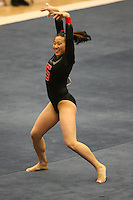 8 April 2006: Stanford's Tabitha Yim won the all-around competition during the NCAA West Regional women's gymnastics championships at Maples Pavilion in Stanford, CA.