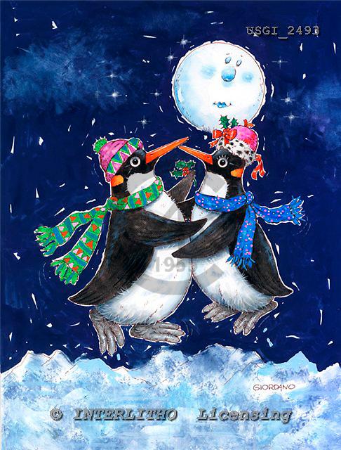 GIORDANO, CHRISTMAS ANIMALS, WEIHNACHTEN TIERE, NAVIDAD ANIMALES, paintings+++++,USGI2493,#XA#