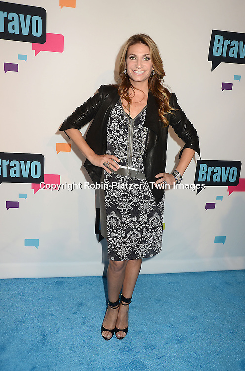 Heather Thomson of New York Housewives arrives at the Bravo 2013  Upfront on April 3, 2013 at Pillars 37 Studio in New York City.
