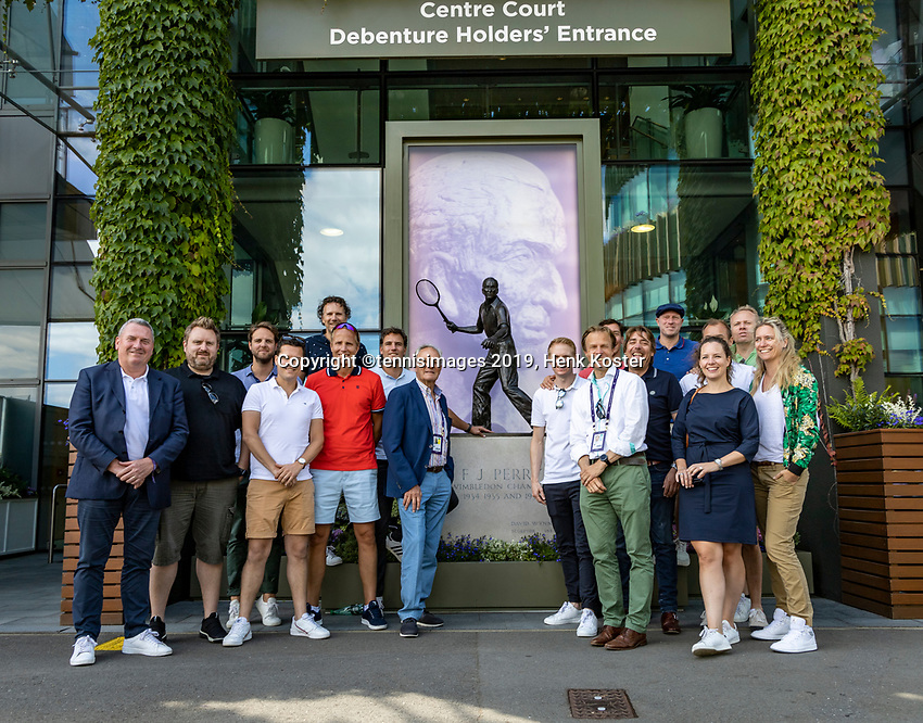 London, England, 1  st July, 2019, Tennis,  Wimbledon, Dutch visitors from the Tennis Federation KNLTB<br /> Photo: Henk Koster/tennisimages.com