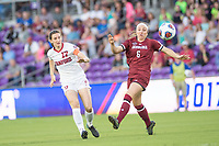 Orlando, FL - Friday December 01, 2017: Andi Sullivan during the NCAA Semi-Final match between the Stanford Cardinal and the South Carolina Gamecocks at Orlando City Stadium.