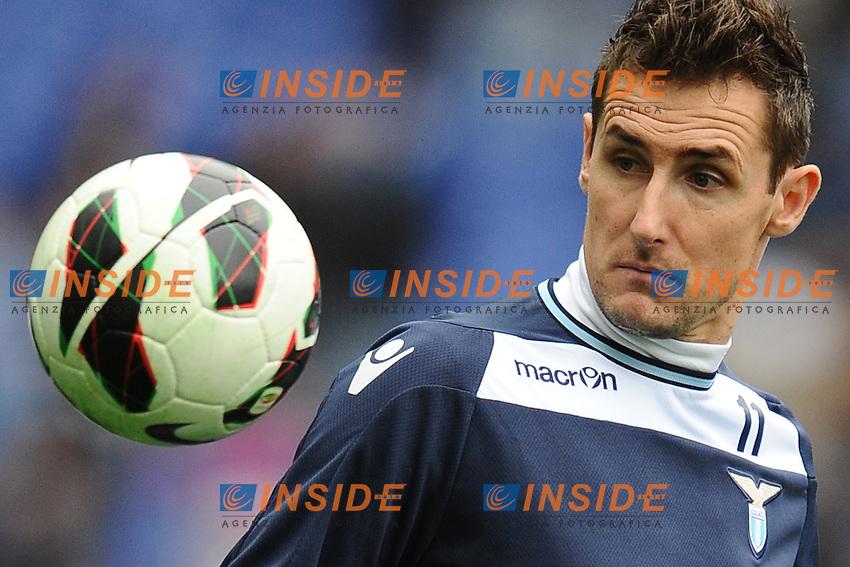 Miroslav Klose Lazio.30/03/2013 Roma.Stadio Olimpico.Football Calcio 2012 / 2013 .Campionato di calcio serie A.Lazio vs Catania 2-1.Foto Insidefoto / Antonietta Baldassarre.