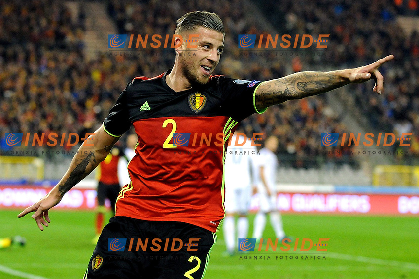 Toby Alderweireld of Belgium  3-0 during World Cup 2018 qualification soccer match between Belgium and Bosnia Herzegovina at the King Baudouin stadium in Brussels, Belgium, 7 October 2016.  <br /> Bruxelles 07-10-2016 Calcio Qualificazioni Mondiali <br /> Belgio Bosnia <br /> Foto Photonews/Panoramic/Insidefoto <br /> ITALY ONLY