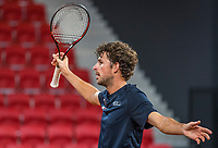 The Hague, The Netherlands, September 13, 2017,  Sportcampus , Davis Cup Netherlands - Chech Republic, Training Dutch team, Robin Haase (NED)<br /> Photo: Tennisimages/Henk Koster