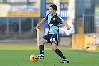 Wycombe Wanderers Luke O'Nien during the Sky Bet League 2 match between Mansfield Town and Wycombe Wanderers at the One Call Stadium, Mansfield, England on 31 October 2015. Photo by Garry Griffiths.