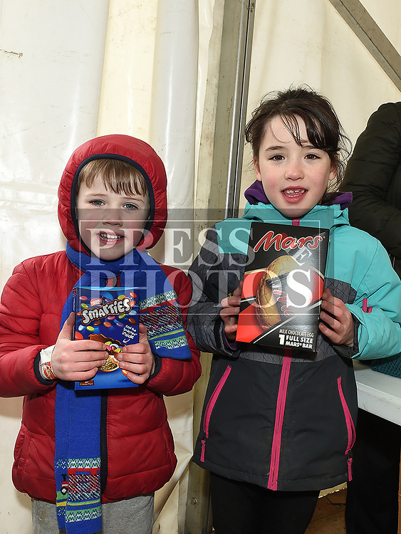 Daniel and Anna Skinner at the Easter Egg Hunt at the Millitary and War Museum at Collon. Photo:Colin Bell/pressphotos.ie