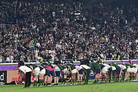 1st November 2019, Yokohama, Japan;  Players of South Africa bow to fans after the 2019 Rugby World Cup Final match between England and South Africa at the International Stadium Yokohama in Yokohama, Kanagawa, Japan on November 2, 2019.