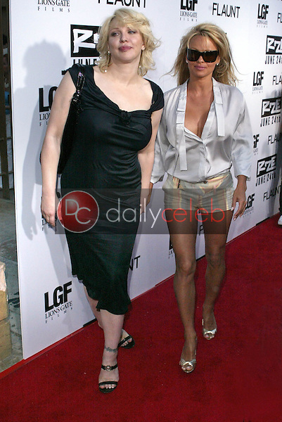 Courtney Love and Pamela Anderson<br />
