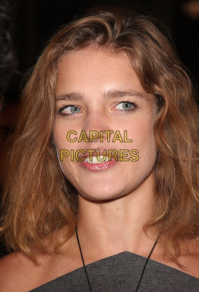 NATALIA VODIANOVA .Vogue Fashion's Night Out - Giorgio Armani Party held at the Emporio Armani store, New Bond Street, London, England, UK, September 8th 2010..portrait headshot mouth open funny grey gray necklace .CAP/ROS.©Steve Ross/Capital Pictures