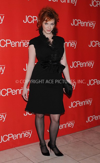 WWW.ACEPIXS.COM . . . . . ....February 10 2009, New York City....Actress Christina Hendricks arriving at 'Style Your Spring' presented by J.C. Penney at Espace on February 10, 2009 in New York City.....Please byline: KRISTIN CALLAHAN - ACEPIXS.COM.. . . . . . ..Ace Pictures, Inc:  ..tel: (212) 243 8787 or (646) 769 0430..e-mail: info@acepixs.com..web: http://www.acepixs.com