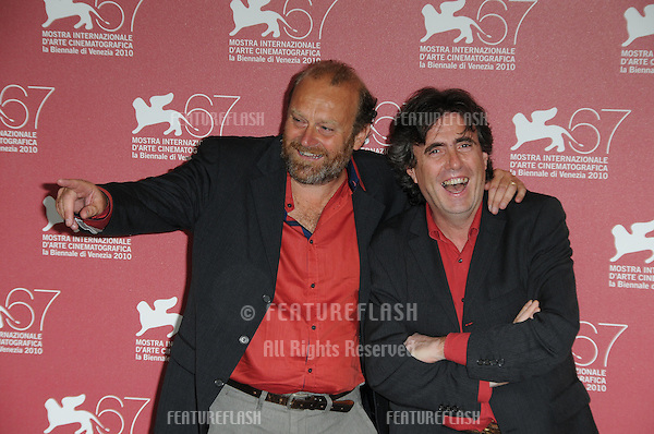 Gianfranco Pannone and Ambrogio Sparagna at the Ma Che Storia photocall during the 67th annual Venice Film Festival..September 6, 2010  Venice, IT.Picture: Anne-Marie Michel / Featureflash