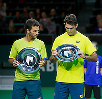 Februari 15, 2015, Netherlands, Rotterdam, Ahoy, ABN AMRO World Tennis Tournament, Jean-Julien Rojer (NED) / Horia Tegau (ROU) <br /> Photo: Tennisimages/Henk Koster