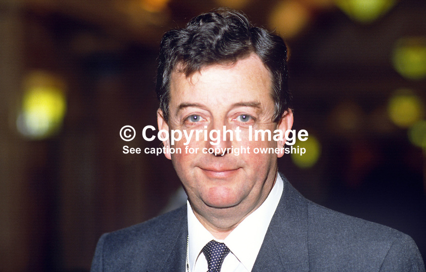 John Wakeham, MP, Conservative Party, UK, 19871018JK2.<br />