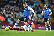 4th November 2017, Villa Park, Birmingham, England; EFL Championship football, Aston Villa versus Sheffield Wednesday; Hooper of Wednesday skips over the challenge from Hourihane of Villa