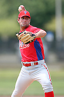 April 10, 2009:  Pitcher Jordan Ellis of the Philadelphia Phillies extended spring training team during an intrasquad scrimmage at Carpenter Complex in Clearwater, FL.  Photo by:  Mike Janes/Four Seam Images