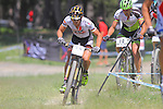 27.07.2013 La Massana, Andorra. UCI Mountain Bike World Cup. Picture show Miguel Martinez (FRA) in action during Cross-Country Final at Vallnord