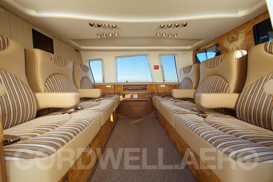 Sikorsky S76 Corporate Helicopter interior