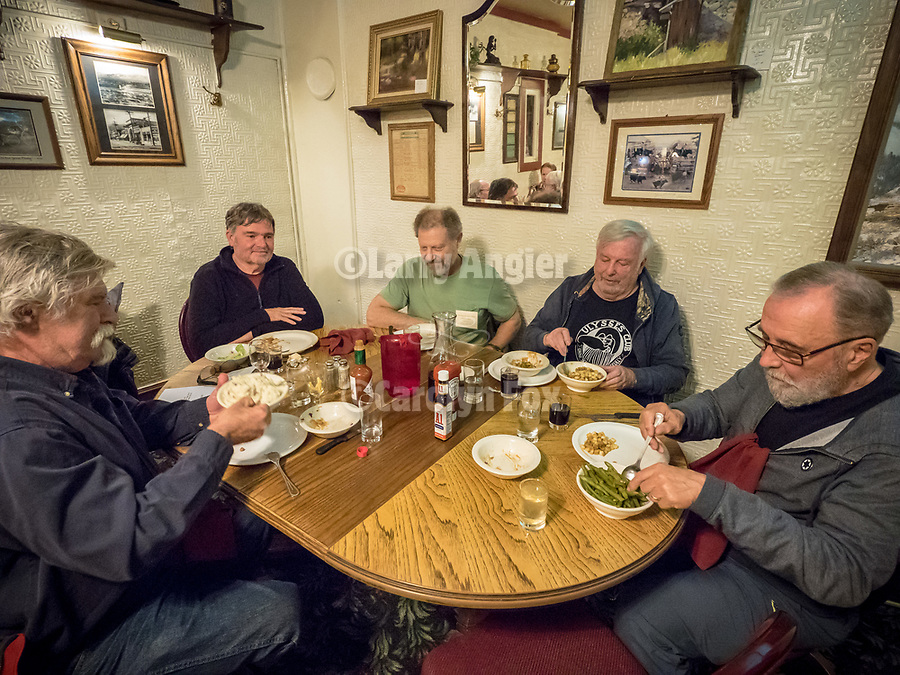 Family-style Basque Dinner at the Martin Hotel, Winnemucca, Nevada