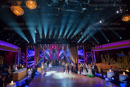 Live broadcast celebrity dancing talent show Saturday Night Fever by Hungarian television company RTL II in Budapest, Hungary on March 16, 2013. ATTILA VOLGYI