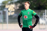 Brazil and Crystal Palace goalkeeper, Lucas Perri ahead of kick-off during France Under-18 vs Brazil Under-20, Tournoi Maurice Revello Football at Stade d'Honneur Marcel Roustan on 5th June 2019