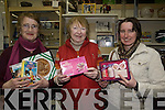Oxfam Tralee are appealing to everyone to donate their unwanted gifts to their charity shop to help support projects in developing countries. .Pictured L-R Mary Reidy, Shop Manager Kathleen Rogers and customer/donator Maureen Brennan at Oxfam Tralee charity shop