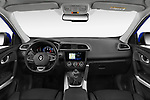 Stock photo of straight dashboard view of 2019 Renault Kadjar Intens 5 Door SUV Dashboard