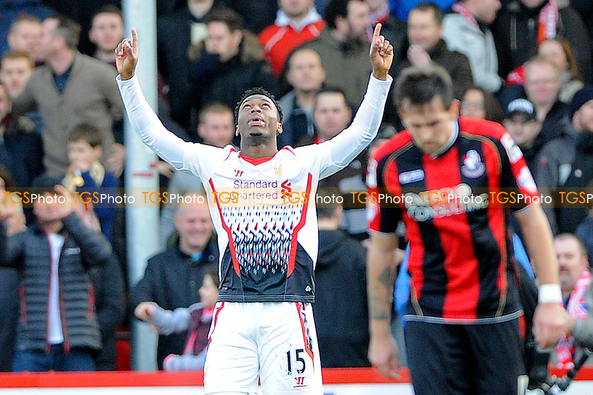 Daniel Sturridge of Liverpool celebrates - AFC Bournemouth vs Liverpool - FA Cup 4th Round Football at the Goldsands Stadium, Bournemouth, Dorset - 25/01/14 - MANDATORY CREDIT: Denis Murphy/TGSPHOTO - Self billing applies where appropriate - 0845 094 6026 - contact@tgsphoto.co.uk - NO UNPAID USE