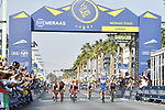 Race leader Elia Viviani (ITA) Quick-Step Floors wins Stage 5 The Meraas Stage final stage of the Dubai Tour 2018 the Dubai Tour&rsquo;s 5th edition, running 132km from Skydive Dubai to City Walk, Dubai, United Arab Emirates. 10th February 2018.<br /> Picture: LaPresse/Massimo Paolone | Cyclefile<br /> <br /> <br /> All photos usage must carry mandatory copyright credit (&copy; Cyclefile | LaPresse/Massimo Paolone)