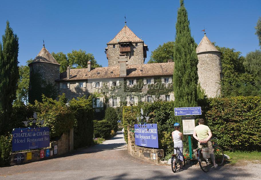 """Europe/France/Rhône-Alpes/74/Haute Savoie/ Sciez-sur-Léman: Hôtel-Restaurant """"Chateau de Coudrée"""""""