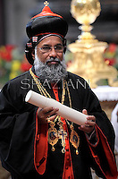 Indian cardinal Baselios Cleemis Thottunkal,Pope Benedict XVI leads a ceremony to appoint six new cardinals at St Peter's basilica at the Vatican.November 24, 2012