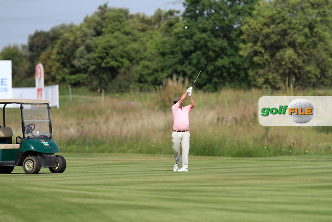 Playing with Raphael Jacquelin (FRA) on the 6th during the Pro-Am of the Open de Espana  in Club de Golf el Prat, Barcelona on Wednesday 13th May 2015.<br /> Picture:  Thos Caffrey / www.golffile.ie