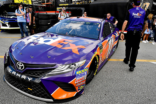 Monster Energy NASCAR Cup Series<br /> The Advance Auto Parts Clash<br /> Daytona International Speedway, Daytona Beach, FL USA<br /> Saturday 10 February 2018<br /> Denny Hamlin, Joe Gibbs Racing, FedEx Express Toyota Camry<br /> World Copyright: Rusty Jarrett<br /> LAT Images